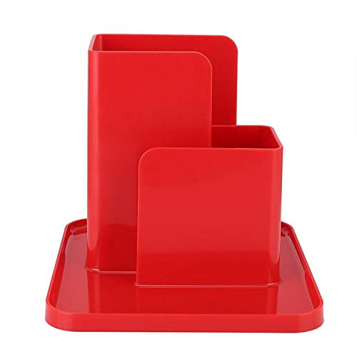 Mothinessto Organizador de Almacenamiento de Escritorio fácil de Usar para la Sala de Estudio de Ofifice(Rojo)