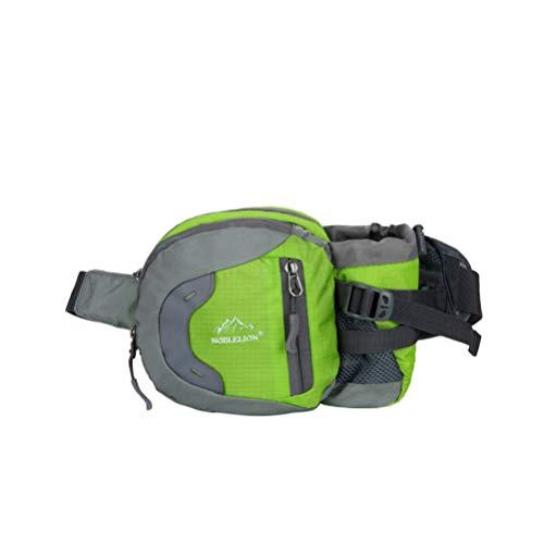 LIOOBO Laufen Hüfttasche Sportgürtel Gürteltasche mit verstellbaren Trägern Sport-Trainingsgürtel für Läufer Sportler Abenteurer (grün)