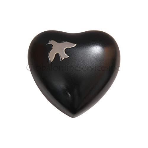 Urnes funéraires en forme de cœur, Aria croissant Dove Urne funéraire en forme de cœur