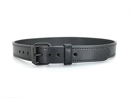Tactical Black Steel Core Concealed Carry CCW Full Grain Leather Gun Belt (42)