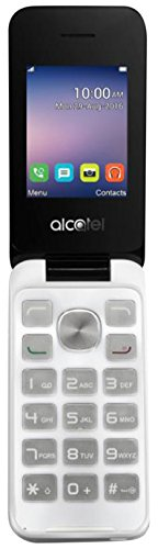 Alcatel 2051X 6,09 cm (2,4 Zoll) Handy 20.51 (Bluetooth, 750mAh Akku, Radio, FM, microSD Kartenleser, MP3-Player) weiß