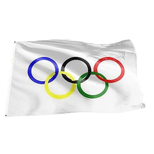 Yililay Juegos Olímpicos de Juego de la Bandera, poliéster Cinco Anillos olímpicos del Equipo de la Bandera por Graden decoración de la Pared 3X5 pies