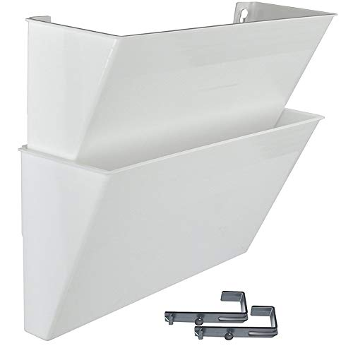Acrimet Wand Prospekthalter (2 Stück) (Weiß)