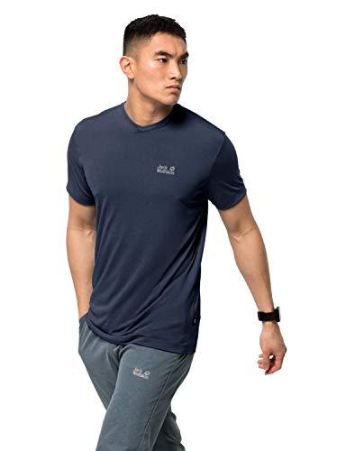 Jack Wolfskin T-shirt à manches courtes pour homme S Bleu nuit