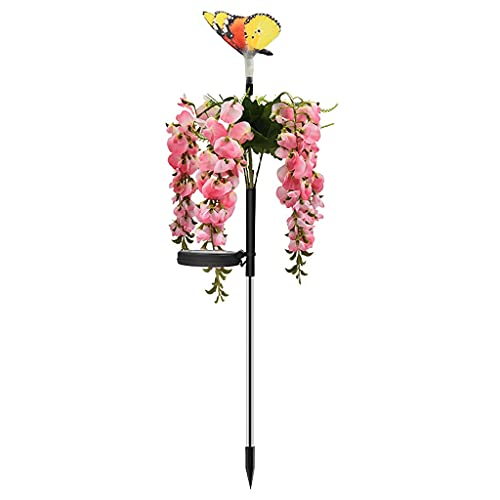 DYXYH 17 Lámpara de Flores de Frijol LED Lámpara de césped para enchufar Linterna Ed Paisaje Luz de jardín Yard Lámpara Decorativa Luces de Patio Jardinería (Color : Pink)