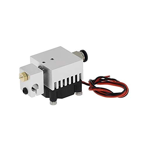 YIBANG-DIANZI 3D T 2 IN 2 OUT Extruder Multi-extrusion All Metal MK8 V6 Dual Single Extruder 0.4mm/1.75mm 3D Printer Parts (Color : Single spray)