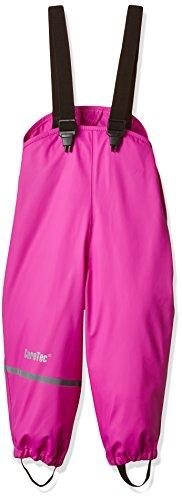 CareTec Kinder Regenlatzhose, wind- und wasserdicht (verschiedene Farben), Rosa (Real pink 546), 140