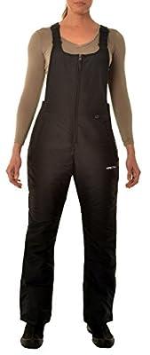 Arctix Women's Essential Insulated Bib Overalls, Black, X-Large/Short