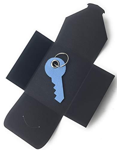 filzschneider Schlüsselanhänger aus Filz - Haus-Tür-Schlüssel/Key - hell-blau - als besonderes Geschenk
