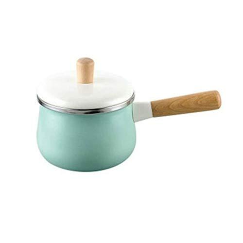 TJLSS Smalto Latte Pot - Latte Pot Latte Pentola Pentola Coperchio con Coperchio Salsa Mensa Pot Noodle Soup Baby Food Porridge Pot Verde