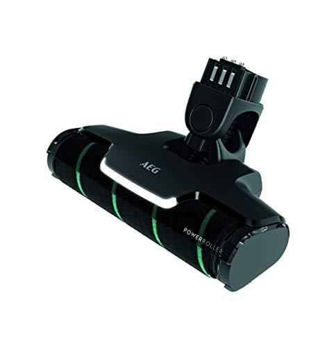 AEG AZE137 Power-Softrolle (Boquilla Ideal para Suelos Duros, excelente Poder de absorción, Luces LED Frontales, Polvo Fino y partículas XXL, Limpieza Suave, Apto para QX9, Negro)