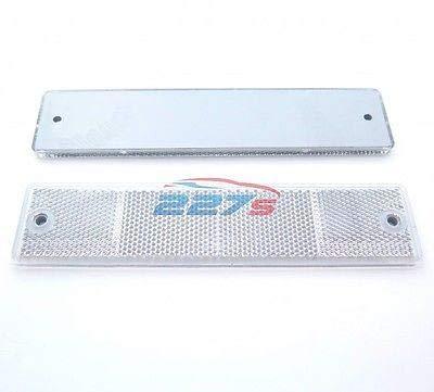 227s - Rechteckige große Reflektoren - Schraubbefestigung - Weiß - 173 x 40 mm - 2 Stück