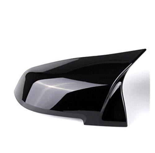 Pingping ZZPING 2 Piezas retrovisor Espejo Cubierta Tapa Fuego Negro Ajuste para la Serie BMW 1 2 3 4 x M 220i 328i 420i F20 F21 F22 F23 F30 F32 F33 F36 x1 (Color : Black Left)