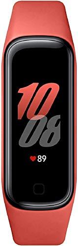 """SAMSUNG Galaxy Fit2 Rojo con acelerómetro, giroscopio, Monitor de frecuencia cardíaca, Monitor de Entrenamiento, Pantalla AMOLED de 1,1"""", batería de 159 mAh [Versión española]"""