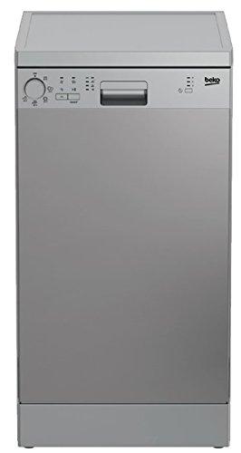 Beko DFS05013X - Lavavajilla Independiente 10 cubiertos A+, Acero inoxidable, Estrecho (45 cm), Botones, Giratorio, color Inox Antihuellas