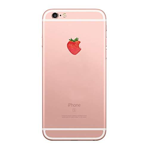 Caler Kompatibel mit/Ersatz für Hülle iPhone 6S/6 Hülle Weiche Flexible Silikon-Handy-Hülle Transparente Ultra Slim TPU dünne stoßfeste mit Motiv Tasche Etui Schutzhülle Case Cover (Erdbeeren)