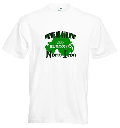 Ced454sy Noord-Ierland Voetbal T-shirt waren op onze weg Norn