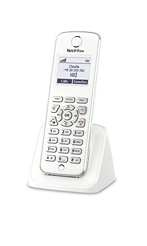 AVM FRITZ!Fon M2 International - Teléfono inalámbrico DECT, pantalla monocroma, enviar y recibir mail, noticias RSS, radio por Internet, compatible con FRITZ!Box con base DECT, menú en Español