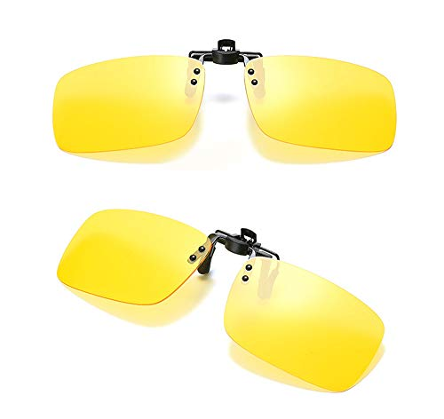 HJHY Gafas de sol con clip polarizadas con clip, unisex, gafas de sol de conducción sin marco, lentes rectangulares con clip en gafas de sol recetadas, ideal para gafas de miopía (uso diario)