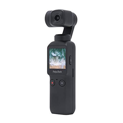 Feiyu - Stabilizzatore tascabile a 3 assi con fotocamera integrata, utilizzabile con smartphone, 115 g