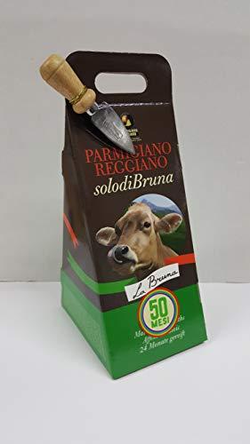 Confezione Regalo in Astuccio 'De-Luxe' Parmigiano Reggiano d.o.p. SOLO DI BRUNA 1 punta da 750 gr. extra scelto 50 MESI