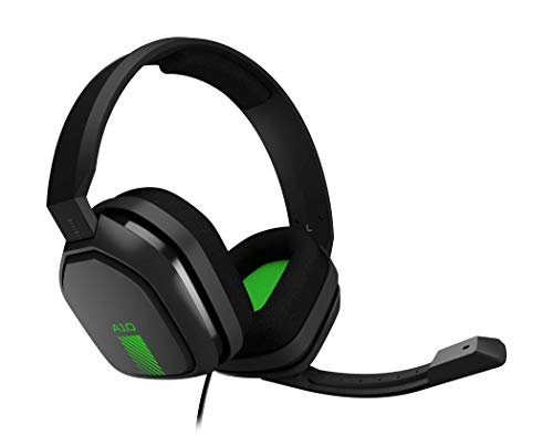 ASTRO A10 Gaming-Headset, ASTRO Audio, 3,5 mm Klinke, Flip-Stummschaltung, Bequeme Stoff-Ohrpolster, Leichtgewicht, Strapazierfähig, PC/Mac/Xbox One/PS4 - schwarz/grün