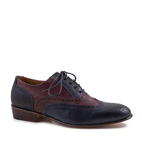 Leonardo Shoes Women's Burgundy Kid Leather Lace-ups Shoes - Size: 5.5 US