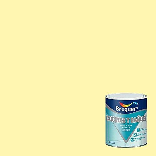 BRUGUER 5075266 Esmalte Azulejos Amarillo Limon 750 ML