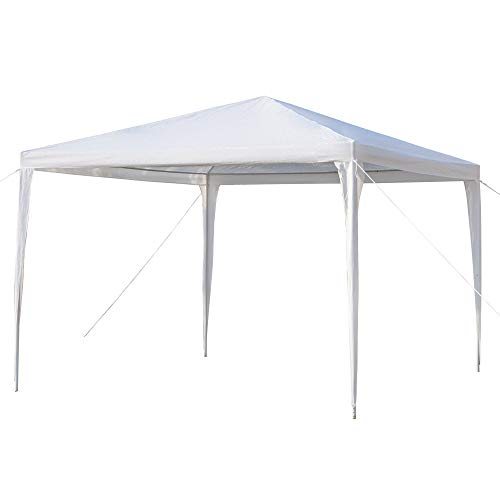 3-Sides Portable Outdoor Pergola,Tent with Waterproof and Windproof Functions Suitable for Wedding, Camping, Parking and Other Parties,Can accommodate Multiple People,3x3m,White [US Stock]
