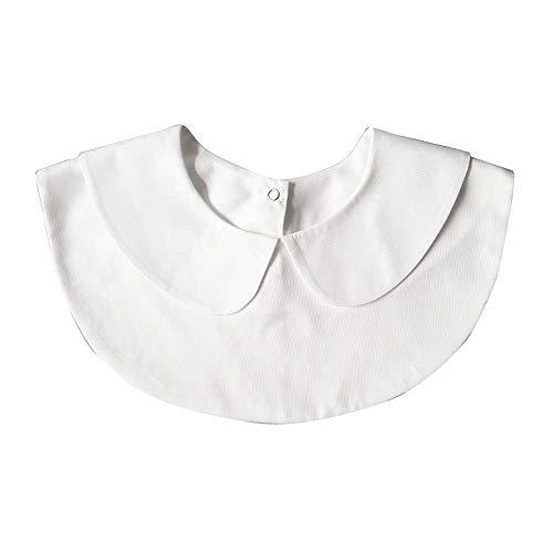 Juland Frauen Kragen Damen Abnehmbare Hälfte Shirt Bluse Damenhalb Fake Hemd Blusenkragen Cotton Fake Kragen Runde – Weiß