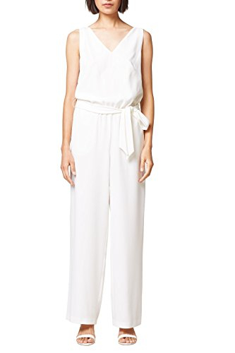 ESPRIT Collection Damen 068EO1L007 Jumpsuit, Weiß (Off White 110), 38