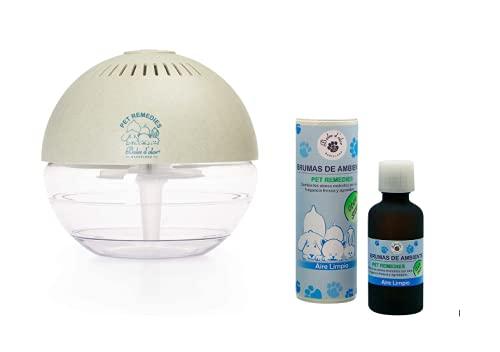 Boles d'Olor Brumizador Esencias para Eliminar Olores de Mascotas. Difusor de Aceites Esenciales. 400 ml con Bruma de Aire Limpio 50 ml
