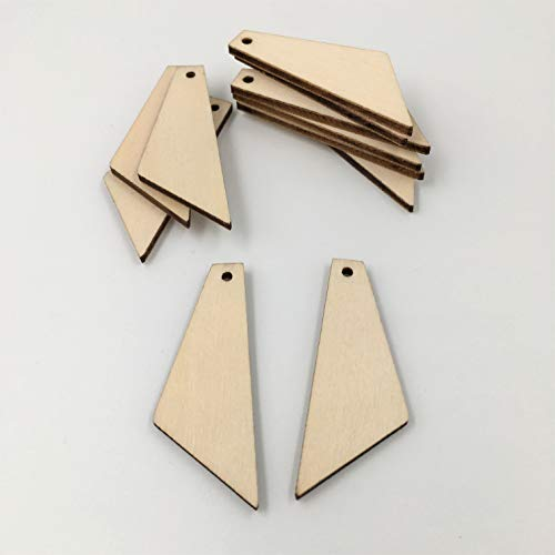Unfinished Wood Tapered Earrings Blank Cutouts Laser Cut Pendant Jewelry Blanks25 Pieces