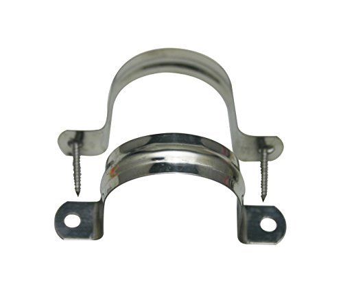 Amanaote Stainless Steel 2 Inches Diameter Tube Strap Tension Clip Pipe Clamp Pipe Hanger Clamp Hanger by Amanaote
