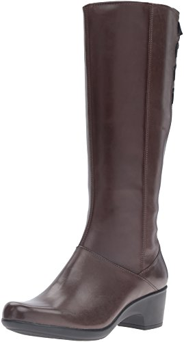 Clarks Women's Malia Skylar Riding Boot, Rich Brown Leather, 8 M US