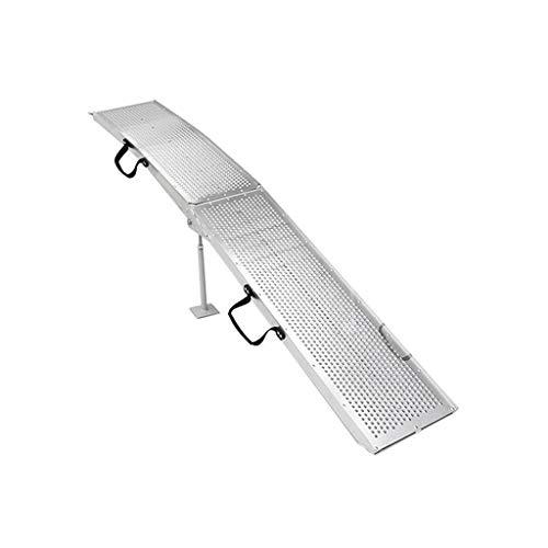 Helling Pad, Metaal Opvouwbare Rolstoel Ramps Huisdier Motorfiets Uphill Pad Transport Ladder Laden Tool 28 * 225CM 28 * 225CM ZILVER