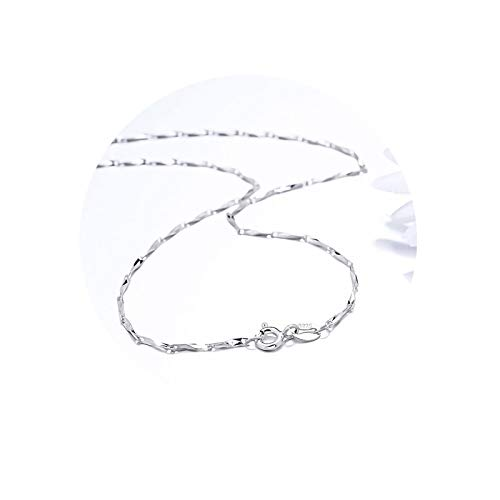 AueDsa Necklaces for Women Chain,Bar Chain Womens Necklaces Chainsterling Silver Silver Necklaces Chains for Women Width 0.8MM Necklace Chain Length 45CM