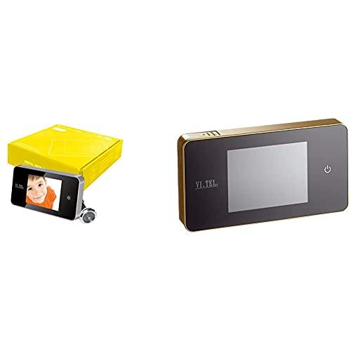VI.TEL. E0426 12 Mirilla Digital 2,6', Color Plateado + E0426 40 Mirilla Digital 2,6', Color Dorado