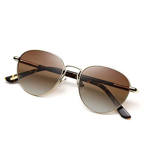 AVAWAY Rotondi Occhiali da sole da Donna Polarizzata Vintage UV400 Occhiali da Esterno, Acetato