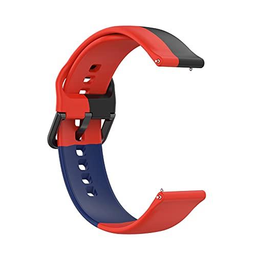 Pulsera compatible con Samsung Galaxy Watch 4 42 mm & Watch 4 Classic 42 mm, 20 mm, silicona de repuesto para Samsung Galaxy Watch Active/Active 2