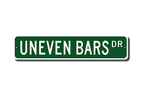 mengliangpu8190 Metal Sign Uneven Bars Uneven Bars Sign Uneven Bars Fan Uneven Bars Gift Gymnastics Sport Gymnast Gift Custom Street Sign Quality