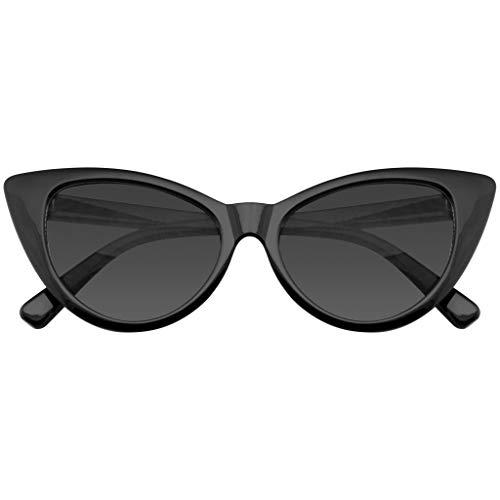 Emblem Eyewear Mujeres Moda Punta Caliente Vintage Señaló Las Gafas de Sol Ojos de Gato (Negro, 0)