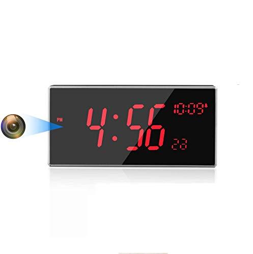 Camera Espion WiFi-Espion-Caméra Horloge FHD 1080P Plus de 33 Pieds Vision Nocturne Prise en Charge de la détection Infrarouge Détection de Mouvement pour la Maison / Le Bureau / l'extérieur