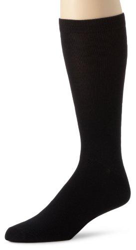 Terramar Men's Standard Thermasilk Mid Calf Sock, Black, X-Small