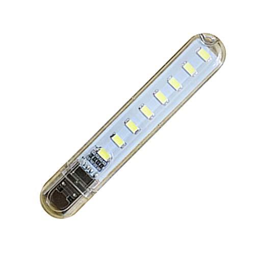 Homyl 8 LED Flexível Noite Lâmpada Usb Luz Ajustável Para Teclado Notebook Laptop - Branco