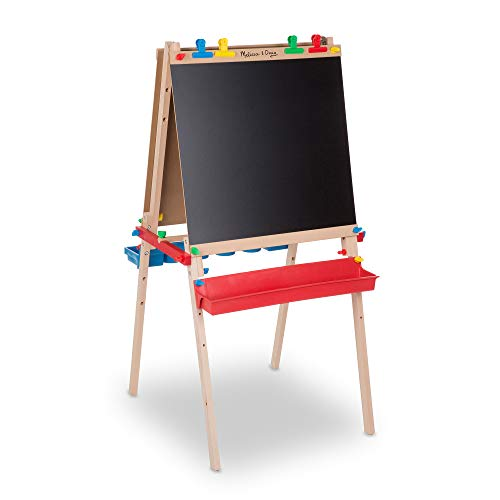 Product Image of the Melissa & Doug Deluxe Wooden Standing Art Easel, Multi, Artistic (1282)