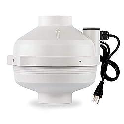 in budget affordable XYF Air PF-100   Radon protection fan 4 ″ 190CFM   Waterproof duct fan (inside / outside)