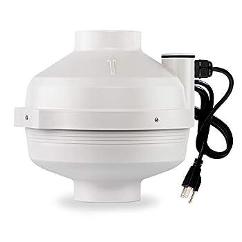 XYF Air PF-100 | Radon Mitigation Fan 4  190CFM | Waterproof Duct Fan  Indoor/Outdoor
