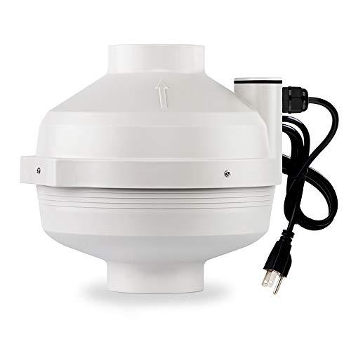 XYF Air PF-100   Radon Mitigation Fan 4' 190CFM   Waterproof Duct Fan (Indoor/Outdoor)
