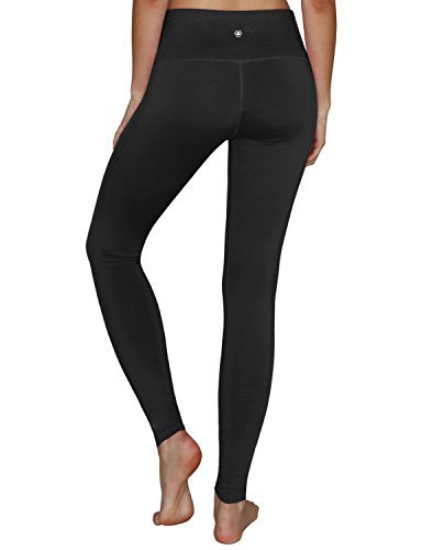 YOGARURU Women's Tummy Control Sports Running Yoga Workout Leggings Pants Hidden Pocket (XS-3XL) , Black , S